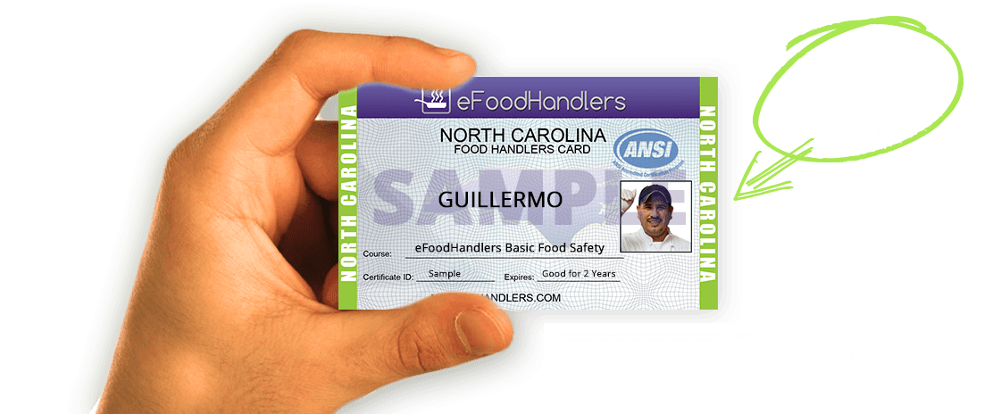 north carolina food handlers card | efoodhandlers® | $10